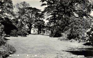 Vintage Real Photo Black & White Hampshire Postcard, Exbury Gardens DD4
