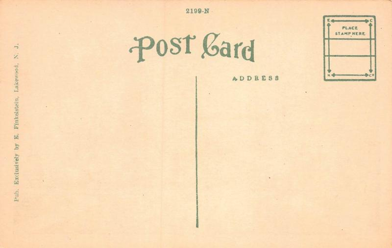 The Casino, Georgian Court, Lakewood, New Jersey, Early Postcard, Unused