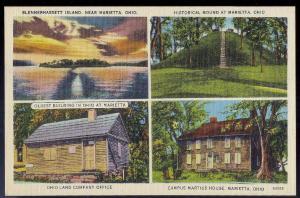 Marietta OH multi-view unused c1930s