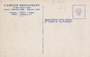L'Aiglon Restaurant, CHICAGO, Illinois, 1930-40s
