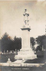 F99/ Marengo Iowa RPPC Postcard c1910 G.A.R. Monument Grand Army Civil War