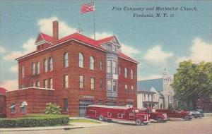 New York Fredonia Fire Company &  Methodist Church