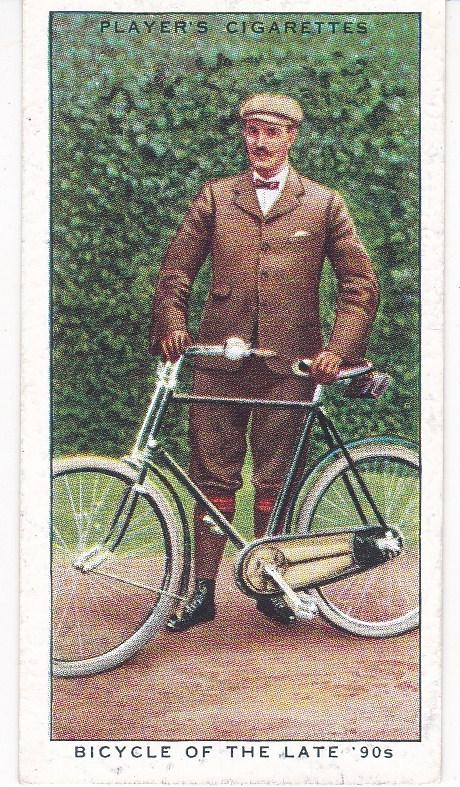 Cigarette Cards Players CYCLING No 21 Bicycle of the late '90s
