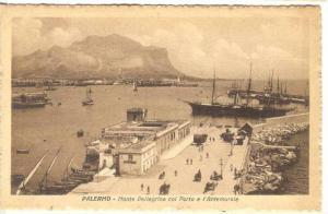 Boats, Monte Pellegrino Col Porto E l'Antemurale, Palermo (Sicily), Italy, 19...