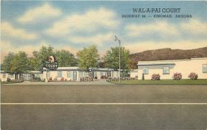 Vintage Linen Roadside Advertising Postcard Wal-A-Pai Court Motel Kingman AZ