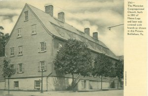 Bethlehem, PA Moravian Church UDB RPPC Postcard