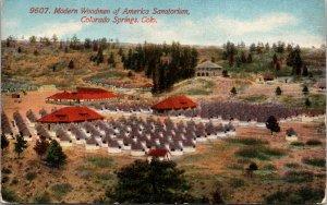 Colorado Springs CO Modern Woodman of America Sanatorium Postcard unused 1910s