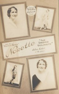 RP: The Singing Violiniste , NONETTE , 1910s