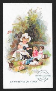 VICTORIAN TRADE CARD SL Bartlett Bensdorps Royal Dutch Cocoa