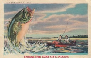 ROME CITY , Indiana , 1930-40s; Large Fish, The Kind We Catch Here
