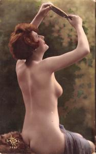 French Tinted Nude Postcard Unused some corner wear, light rounded corners