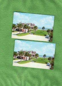 Coastline Motel Ormond Beach, Florida Postcard Ocean View