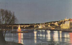 ALMA, Quebec, PU-1989; Lac St. Jean at Night