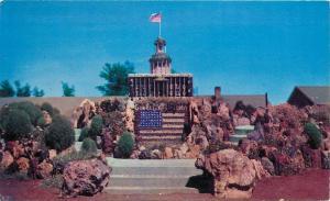 Petersen Rock Gardens Bend Redmond OR Oregon God Bless America Postcard