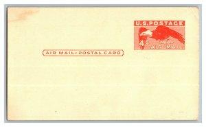 4 Cent Air Mail Postal Card Eagle U. S. Postage