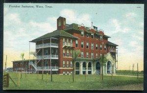 Provident Sanitarium Waco Texas tx old postcard