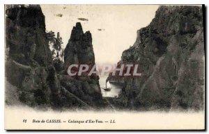 Postcard Old Bay of Cassis Calanque of En Vau