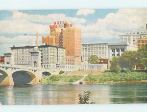 Pre-1980 HOTEL SCENE Wilkes-Barre Pennsylvania PA G9536