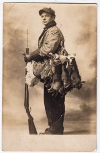 RPPC, Man with Several Dead Rabbits & Gun