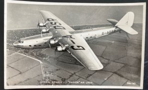 Mint England Real Picture Postcard Imperial Airways Ensign Airliner