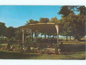 Pre-1980 MEMORIAL TO PRESIDENT JFK JOHN KENNEDY AT PARK Fredericton NB c8510