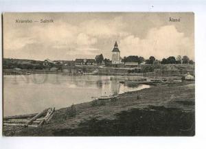 235402 FINLAND ALAND Kvarnbo Saltvik Vintage postcard