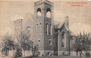 E90/ Shadyside Belmont Co Ohio Postcard c1910 First Church of Christ
