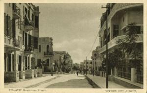 israel palestine, TEL-AVIV, Montefiore Street (1930s) Eliahu Bros. Postcard