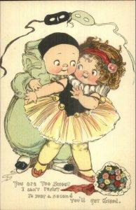 TUCK Love Messages Cute Kids DRAYTON c1910 TUCK Postcard Clown Pierrot