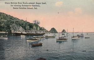 SANTA CATALINA ISLAND , California, 1919; Glass Bottom Row Boats around Sugar