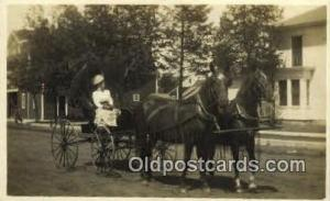 Horse Drawn Real Photo Postcard Postcards