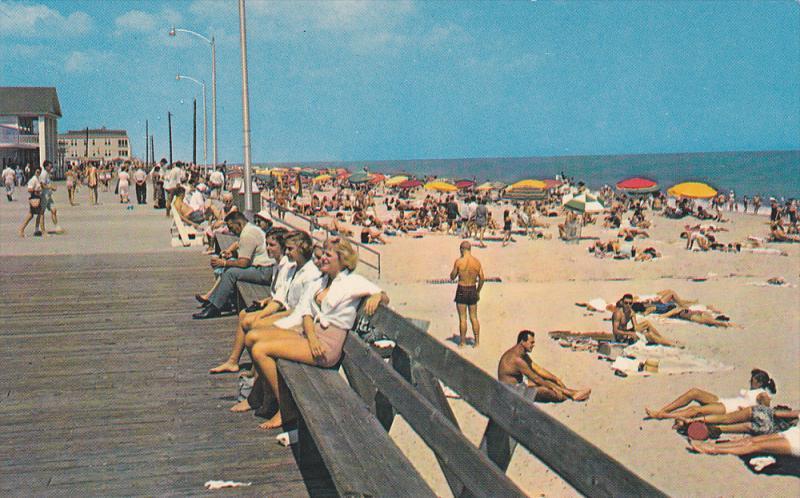 Concrete Section Of Boardwalk Rehoboth Beach Delaware