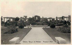 Cuba Havana Habana Parque de Miramar Miramar´s Park RPPC 04.96