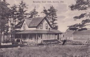 Beverley Hunt Club Aurora Ontario Canada Hunting Postcard