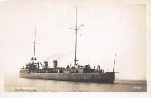 B47/ Italy Italian Navy Real Photo RPPC Postcard Ship c1920 R.N. Quarto Cruiser4
