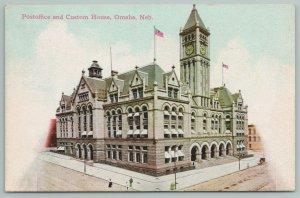 Omaha Nebraska~Post Office And Custom House~c1910 Postcard