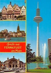 Gruesse aus Frankfurt am Main, Turm River Boat Bateau Cathedral Station