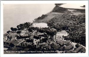 RPPC MONTEBELLO, PQ Canada   SEIGNIORY CLUB  Aerial View  c1930s Postcard