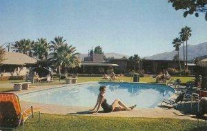 Swimming Pool OASIS HOTEL Palm Springs, CA c1950s Chrome Vintage Postcard