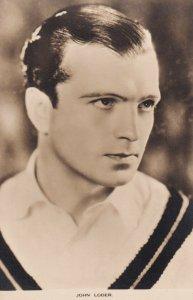 RP: JOHN LODER, British film actor, 1920s