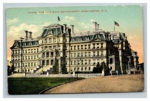 Vintage 1914 Postcard Panoramic View State War & Navy Building Washington DC