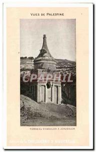 Old Postcard From Palestine Views Tomb D Absalon A Jerusalem