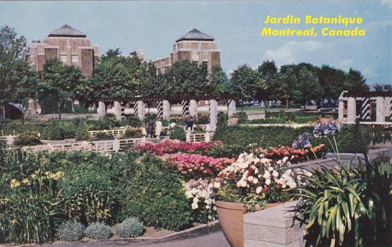 Jardin Botanique Montreal Quebec Canada 40 60s Hippostcard