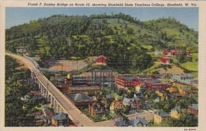West Virginia Bluefield Frank F Easley Bridge On Route 22 Showing Bluefield S...