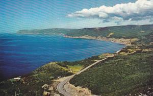 View of Pleasant Bay,  Cabot Trail,  Nova Scotia,  Canada,  40-60s