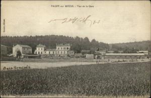 Pagny Sur Meuse Vue De La Gare RR Station c1915 Postcard