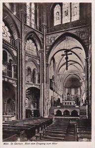 Germany Koeln St Gereon Blick vom Eingang zum Altar Real Photo