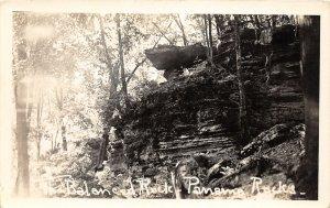G43/ Panama Rocks New York RPPC Postcard c20s The Balanced Rock Geology