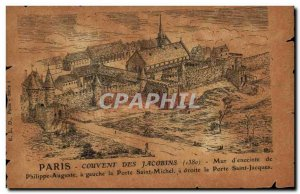 Old Postcard Paris Convent of the Jacobins of 1380 Wall & # 39enceinte Philip...