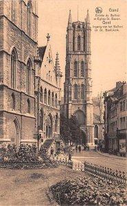 Entr»e du Beffroi et Eglise St Bavon Gand Belgium Unused